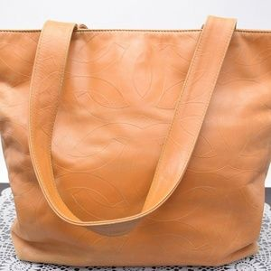 Authentic Chanel Tote Bag COCO Oranges Leather